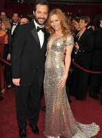 Director Judd Apatow and actress Leslie Mann arrive at the 81st
