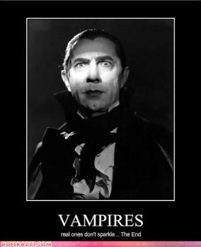 Vampiros: Os verdadeiros não cintilam... Fim.