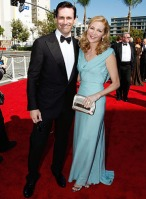 Actors Jon Hamm and Jennifer Westfeldt arrive at the 61st Primet