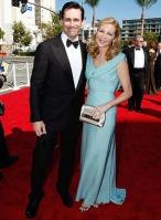 Actors Jon Hamm and Jennifer Westfeldt arrive at the 61st Primet