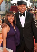 Simone Johnson and LL Cool J arrive at the 61st Primetime Emmy A