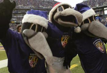 Edgar, Allan e Poe, mascotes do Baltimore Ravens