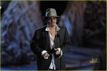 Johnny Depp e o Torféu Spike