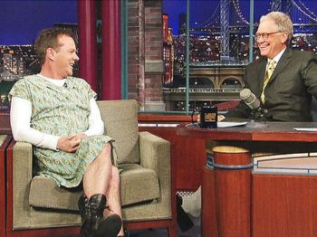Kiefer Sutherland e David Letterman, 13/01/10
