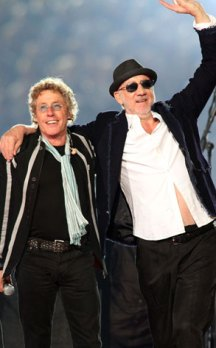 Roger Daltrey e Pete Townshend do The Who