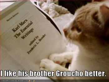 Eu gosto mais do irmão dele, o Groucho