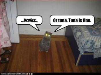 ...cérebros... ou atum. atum tá bom.