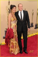 Woody Harrelson (R) and wife Laura Louie