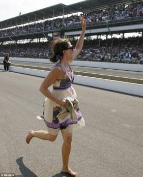 Ashley Judd, esposa do vencedor Dario Franchitti