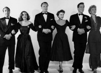 Gary Merrill, Bette Davis, George Sanders, Anne Baxter, Hugh Marlowe e Celeste Holm.